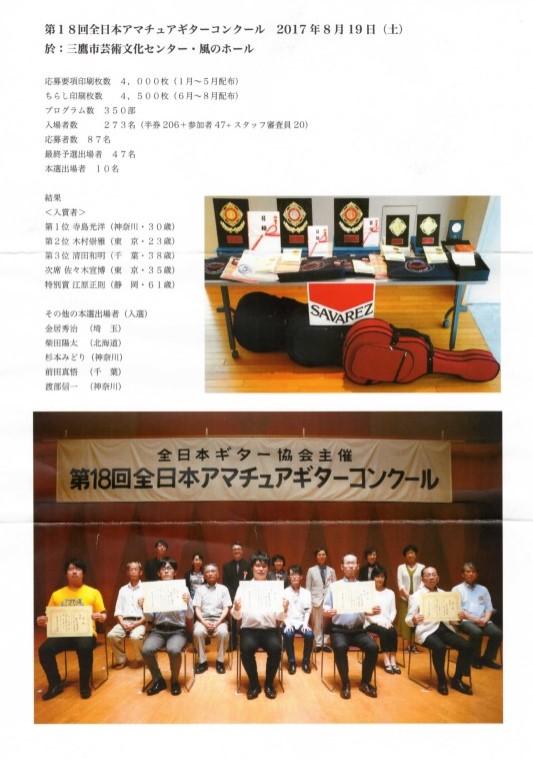 第18回全日本アマチュアギターコンクール